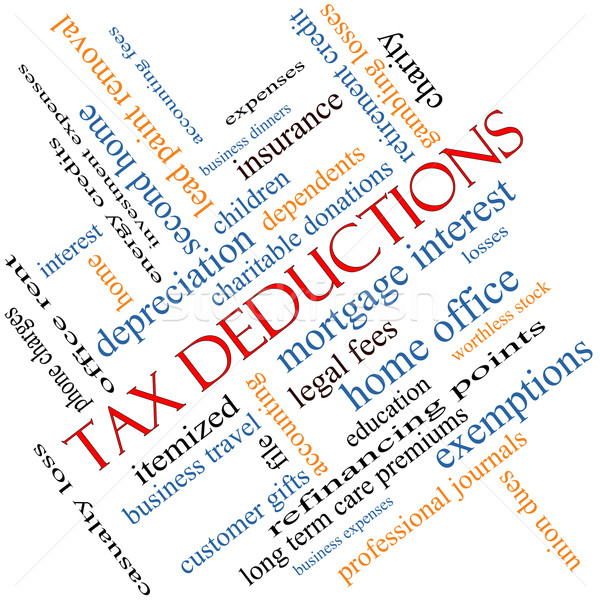Tax Deductions Word Cloud Concept angled Stock photo © mybaitshop