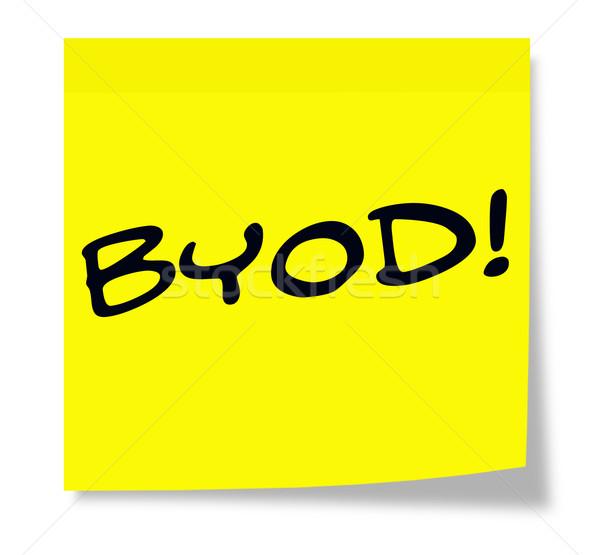 BYOD on a sticky note Stock photo © mybaitshop