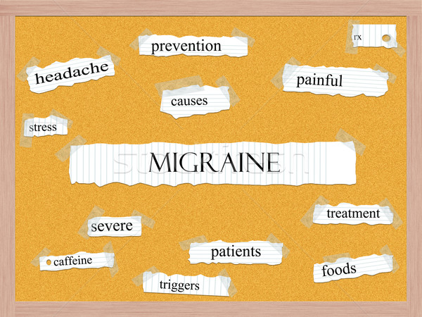 Migraine Corkboard Word Concept Stock photo © mybaitshop