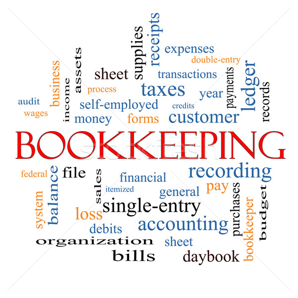 Bookkeeping Word Cloud Concept Stock photo © mybaitshop
