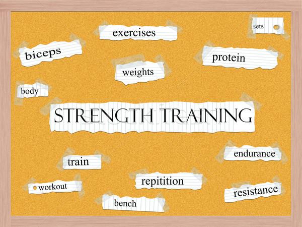 Trening siłowy słowo białko więcej ciało Zdjęcia stock © mybaitshop