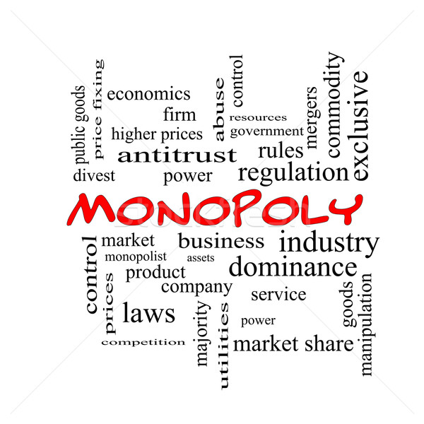 Monopole nuage de mots rouge magnifique affaires industrie Photo stock © mybaitshop