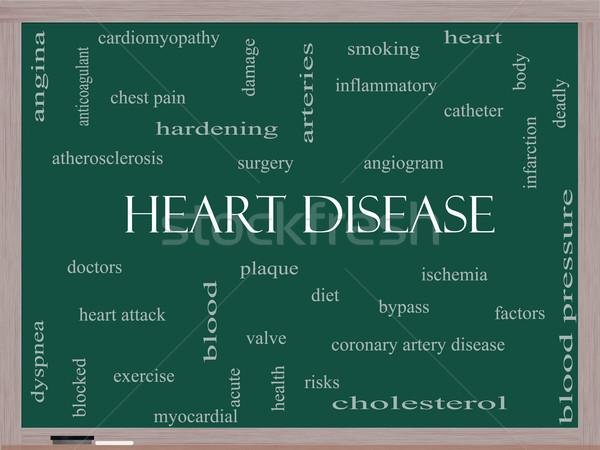 心臓病 言葉の雲 黒板 ボディ ストックフォト © mybaitshop