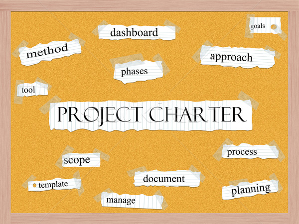 Project Charter Corkboard Word Concept Stock photo © mybaitshop