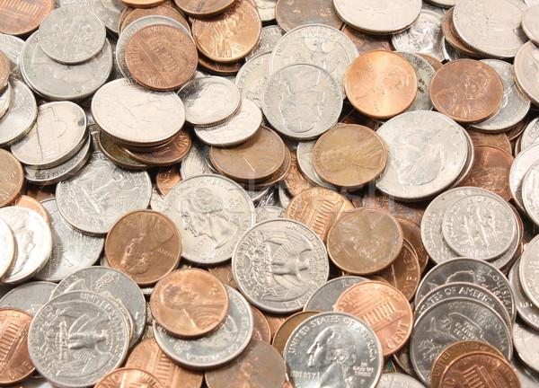US Coins background Stock photo © mybaitshop