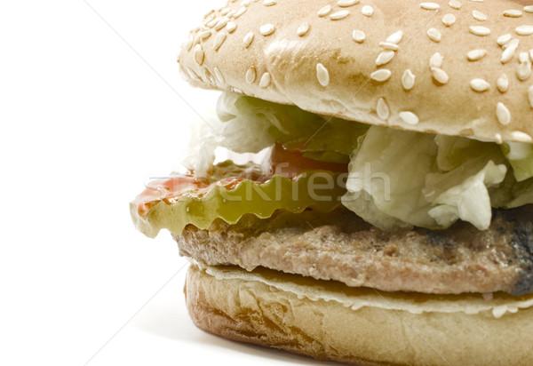 Big Hamburger with all the Fixin's Stock photo © mybaitshop