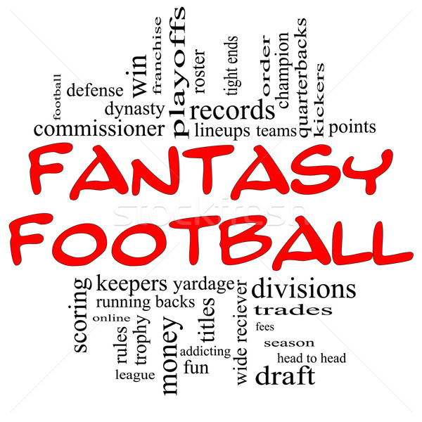 Fantasy Football Word Cloud Concept in Red & Black Stock photo © mybaitshop
