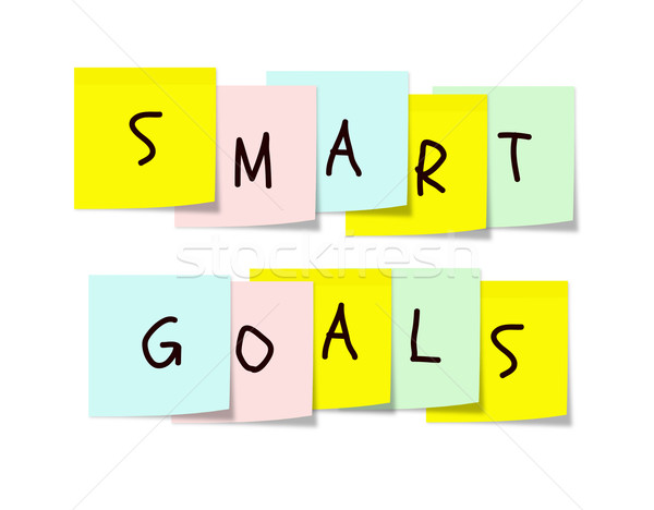 Smart Goals on colorful sticky notes Stock photo © mybaitshop