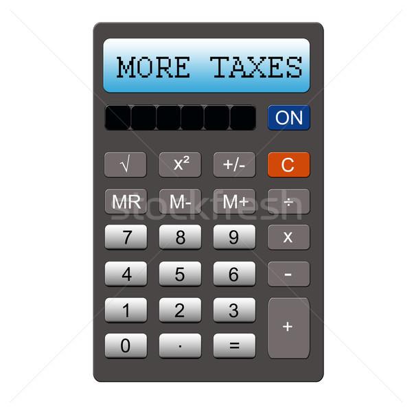 Mais calculadora imitação palavra escrito Foto stock © mybaitshop