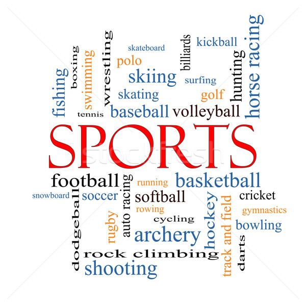 Sports Word Cloud Concept Stock photo © mybaitshop