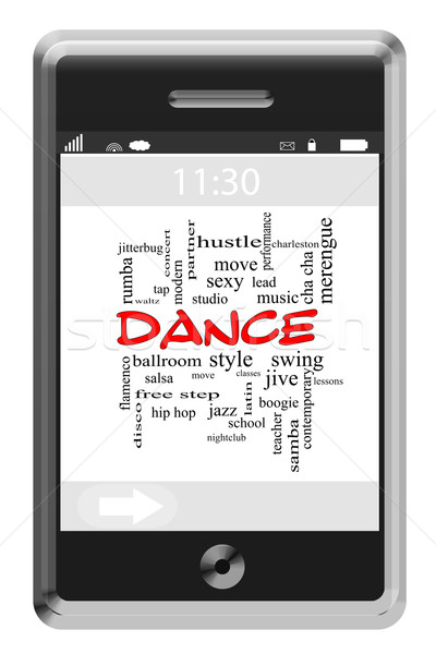 Dance word cloud telefono studio Foto d'archivio © mybaitshop