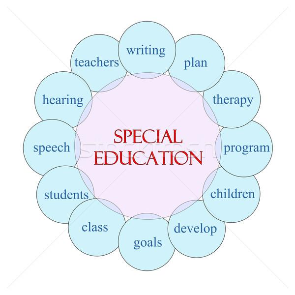 Különleges oktatás körkörös szó diagram rózsaszín Stock fotó © mybaitshop