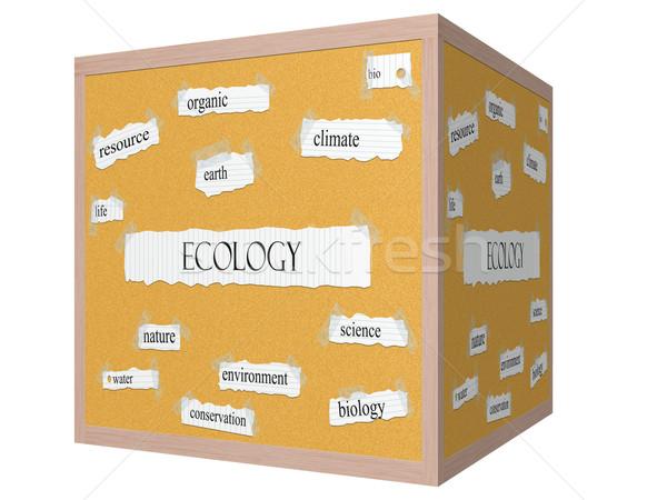 Ecology 3D Corkboard Word Concept Stock photo © mybaitshop