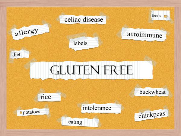 Glutensiz kelime muhteşem hastalık daha fazla Stok fotoğraf © mybaitshop
