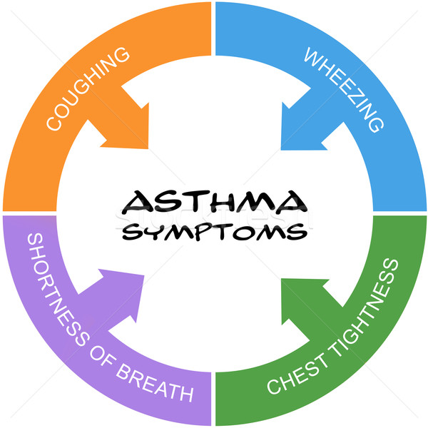 Asthma Symptoms Word Circle Concept scribbled Stock photo © mybaitshop