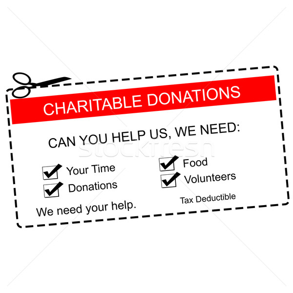 Charitable Donations Red Coupon Stock photo © mybaitshop