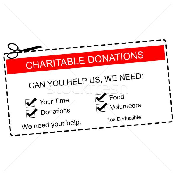 Doações vermelho branco tempo Foto stock © mybaitshop