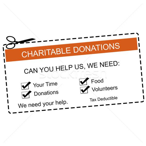 Doações laranja branco tempo Foto stock © mybaitshop