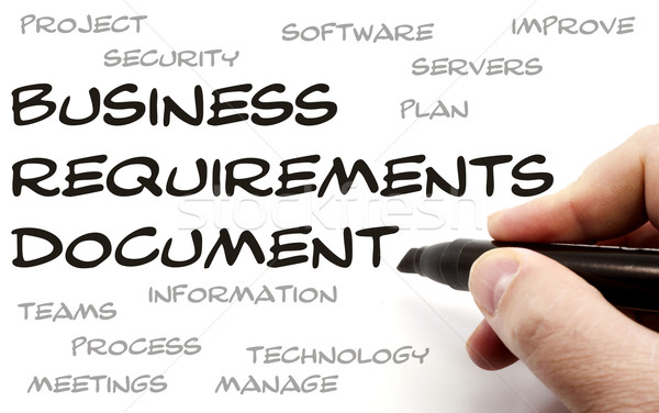 Business Requirements Document being hand written Stock photo © mybaitshop