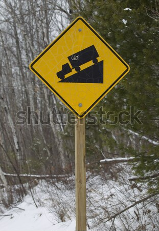 Caution Children at Play Teeter Totter Sign Stock photo © mybaitshop