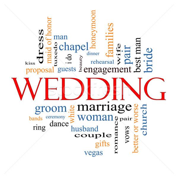 Wedding Word Cloud Concept Stock photo © mybaitshop