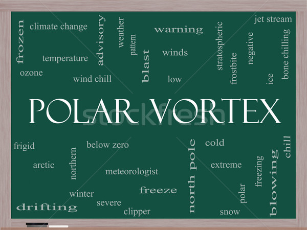 Polar Vortex Word Cloud Concept on a Blackboard Stock photo © mybaitshop