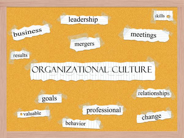 Organizational Culture Corkboard Word Concept Stock photo © mybaitshop