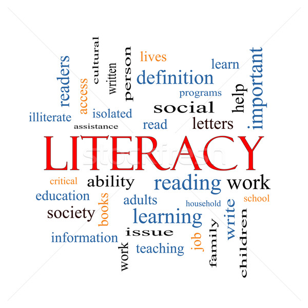 Literacy Word Cloud Concept Stock photo © mybaitshop