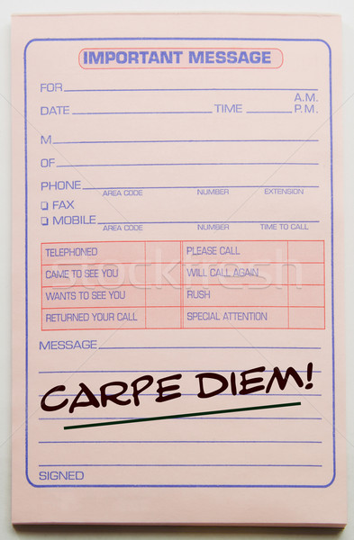 Carpe Diem written on pad Stock photo © mybaitshop