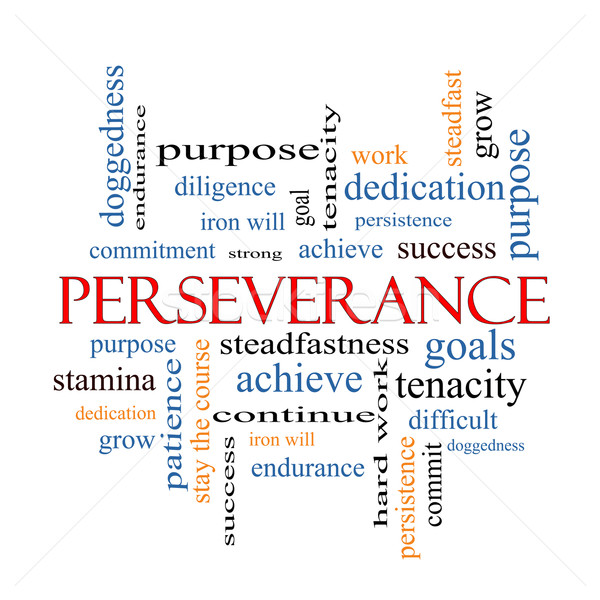 Perseverance Word Cloud Concept Stock photo © mybaitshop