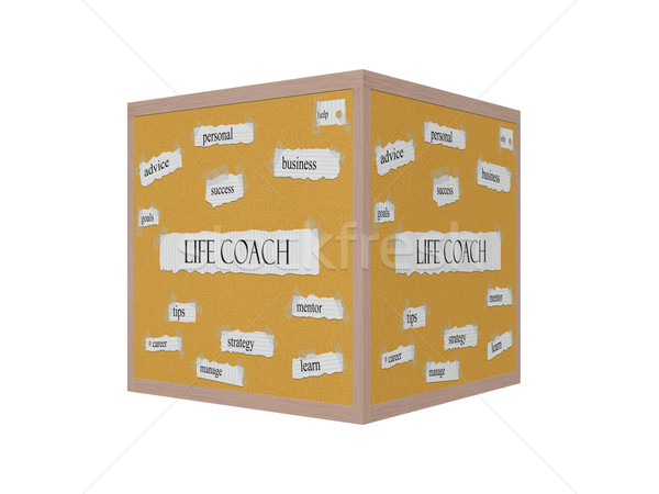 Life Coach 3D Corkboard Word Concept Stock photo © mybaitshop