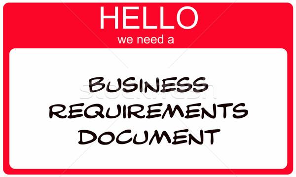 Merhaba gerek iş belge kırmızı Stok fotoğraf © mybaitshop