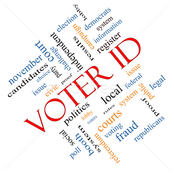Stock photo: Voter ID Word Cloud Concept angled