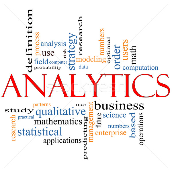 Analytics Word Cloud Concept Stock photo © mybaitshop