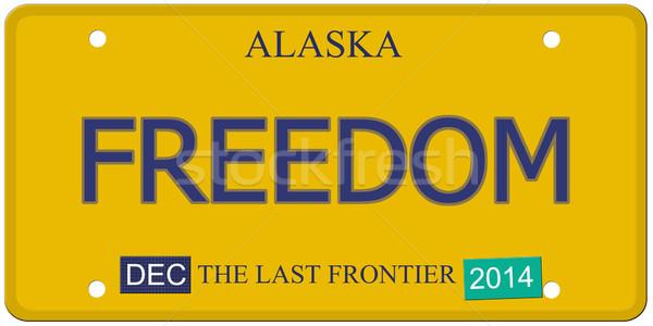 Freedom Alaska License Plate Stock photo © mybaitshop