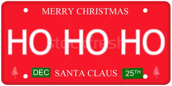 Kentekenplaat imitatie december stickers geschreven Stockfoto © mybaitshop