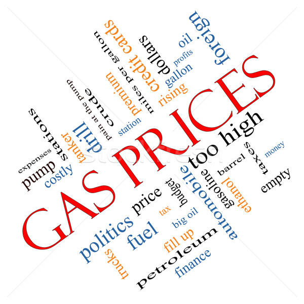 Gas Prices Word Cloud Concept Angled Stock photo © mybaitshop