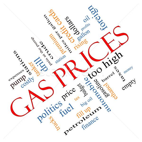 Alto preços nuvem da palavra bombear Foto stock © mybaitshop