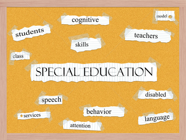 Special Education Corkboard Word Concept Stock photo © mybaitshop