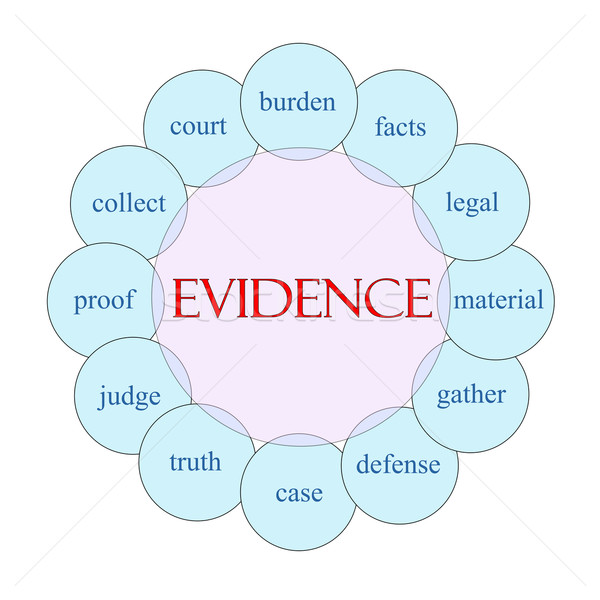 Bizonyíték körkörös szó diagram rózsaszín kék Stock fotó © mybaitshop