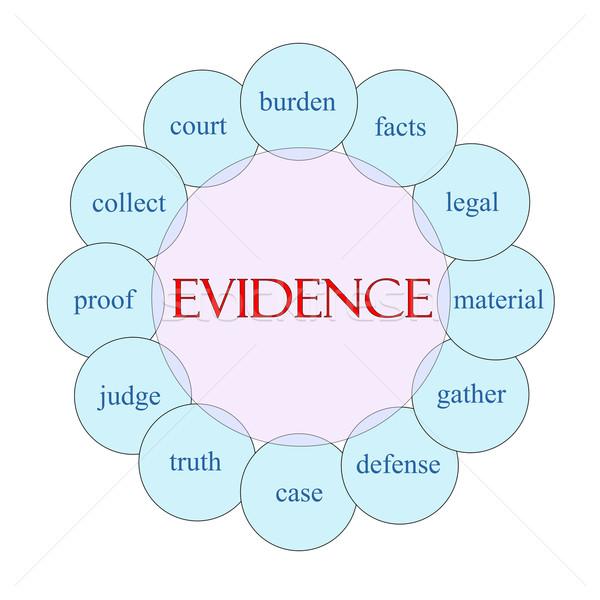 Evidência palavra diagrama rosa azul Foto stock © mybaitshop