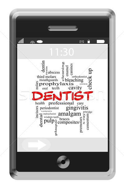 стоматолога слово облако телефон полость Сток-фото © mybaitshop