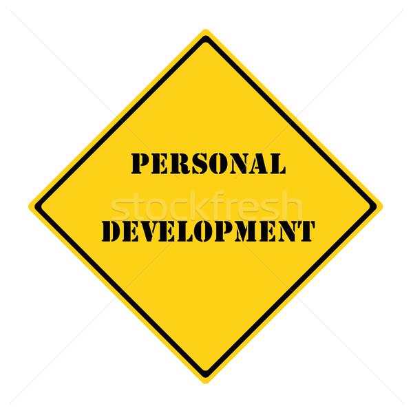 Personal Development Sign Stock photo © mybaitshop