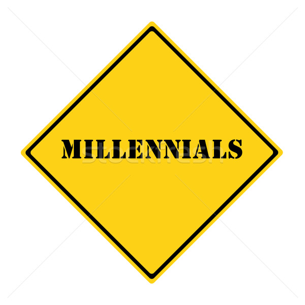 Millennials Sign Stock photo © mybaitshop