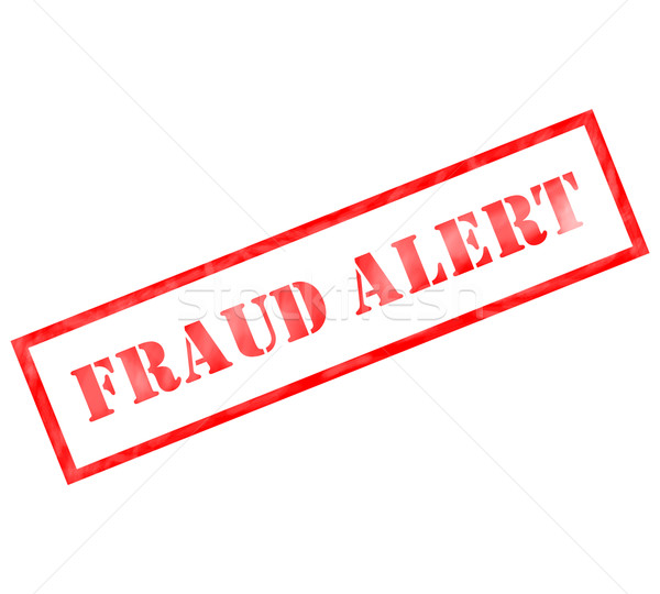 Fraud Alert Red Rectangle grunge stamp Stock photo © mybaitshop