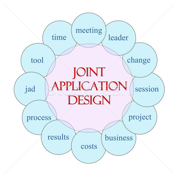 ジョイント アプリケーション デザイン サークル 言葉 ストックフォト © mybaitshop
