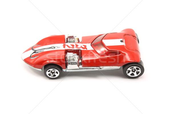 Juguete rojo carreras coche raya blanco Foto stock © mybaitshop