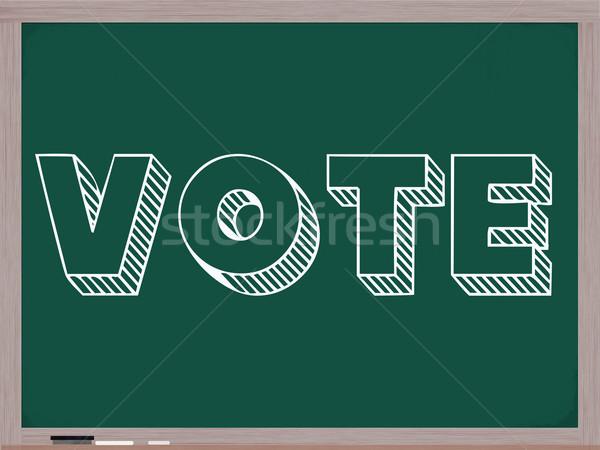 голосования доске написанный большой белый письма Сток-фото © mybaitshop
