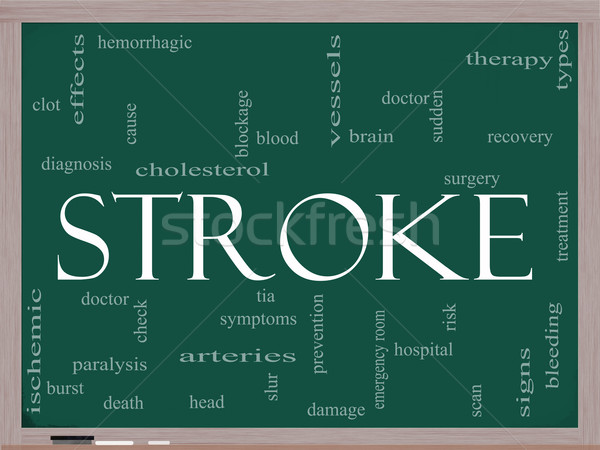 Stroke word cloud on blackboard Stock photo © mybaitshop