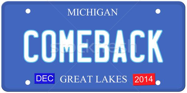 Michigan imitação placa dezembro 2014 adesivos Foto stock © mybaitshop